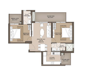 M3M Heights, 2 BHK, 1261 SQFT